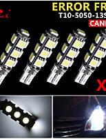 4x cuña canbus t10 blanco 192 168 194 W5W 13 5050 SMD error bombilla de la lámpara de luz LED 12v libre