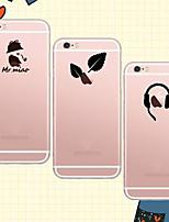 Para Capinha iPhone 6 / Capinha iPhone 6 Plus Transparente / Estampada Capinha Capa Traseira Capinha Brincadeira Com Logo da Apple Macia