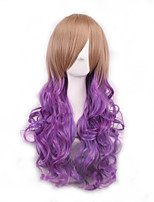 Cos Wig Brown Gradient Japan Original SuFeng Curly Hair Wig