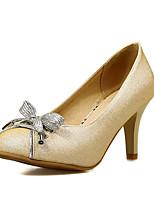 Women's Shoes Cone Heel Heels / Round Toe Heels Dress Black / Blue / Pink / Gold / Navy