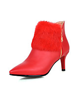 Women's Shoes Stiletto Heel Heels / Pointed Toe / Closed Toe Heels / Boots Office & Career / DressBlack / Red / White /