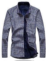 Printing warm long-sleeved shirt plus thick velvet shirt Slim Plus Size
