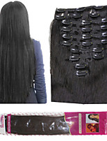 Ibeshion Affordable 180grams 10pcs 26 Clips Straight Clip In Human Hair Extensions #1b #2 #4 #6 Brazilian Remy Hair
