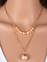 Fashion simple pearl necklace