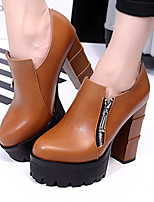 Women's Shoes Leatherette Chunky Heel Heels / Platform / Fashion Boots / Bootie Heels Party & Evening / Dress