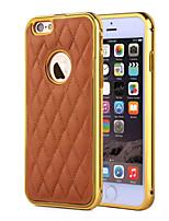 Для Кейс для iPhone 5 Other Кейс для Задняя крышка Кейс для Один цвет Твердый Искусственная кожа iPhone SE/5s/5