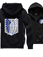 Attack on Titan Eren Jager/Allen Black Hoodie Cosplay Costume