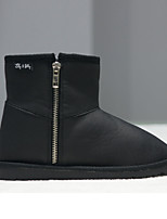 Women's Shoes Fabric Flat Heel Snow Boots Boots Outdoor / Casual Black / Blue / Brown