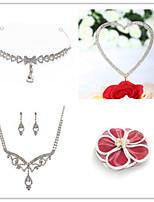 Wedding Suit(Headdress & Necklace & Earrings & Brooch & Cake Topper)