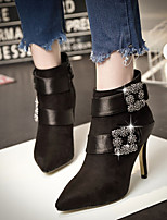 Europe and the United States diamond buckle pointed Martin boots