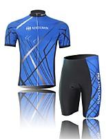 Men's Short Sleeve Blue Cycling Clothing Sets/Suits ShortsBreathable / Ultraviolet Resistant / Moisture