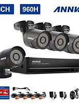 annke 8ch système 960H CCTV enregistreur vidéo étanche 900tvl des kits de surveillance de caméras de sécurité à domicile