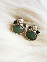 Natural Stone Pearl Earrings