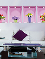 3d Fresh Vase Wall Stickers