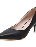 Women's Shoes Patent Leather Stiletto Heel Pointed Toe Heels Dress Black / White