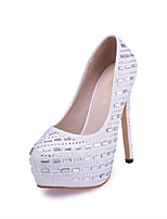 Women's / Girl's Wedding Shoes Heels Heels Wedding / Office & Career / Party & Evening / Dress White / Gold