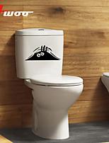 New Cartoon Eyes Pattern Waterproof Wall Sticker For Toilet Bathroom Home Decor Vinyl Wall Decal