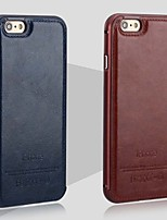 Para Funda iPhone 6 / Funda iPhone 6 Plus Other Funda Cubierta Trasera Funda Un Color Dura Cuero AuténticoiPhone 7 Plus / iPhone 7 /