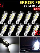 10x cuña canbus t10 blanco 192 168 194 W5W 10 SMD 5630 llevó la luz de error bombilla de la lámpara 12v libre