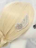 מסרקי שיער כיסוי ראש נשים / נערת פרחים חתונה / אירוע מיוחד ריינסטון / סגסוגת / דמוי פנינה חתונה / אירוע מיוחד חלק 1