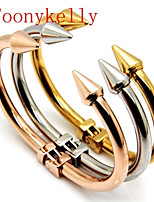 Toonykelly Women's Stainless Steel Cuff/Personalized With Non Stone Bracelet