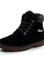 Men's Boots Fall Winter Other Suede Outdoor Casual Flat Heel Lace-up Black Brown Gray Dark Green Other Walking