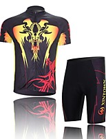 Men's Short Sleeve Cycling Clothing Sets/Suits ShortsBreathable / Ultraviolet Resistant /Moisture  Yellow+Black