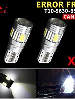 2 x canbus cuneo T10 bianco 192 168 194 W5W 6 5630 smd led errore luce lampadina gratis