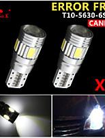 2 x canbus cuña T10 blanco 192 168 194 W5W 6 5630 SMD llevó error bombilla de la lámpara de luz libre
