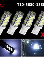 4x t10 W5W branco 192 168 194 7014 5730 13 13smd luzes laterais LED luz cunha 12v