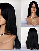 18inch kant voor haar pruiken rechte menselijk haar pruiken 100% human hair Mongoolse maagd haar pruiken voor vrouwen