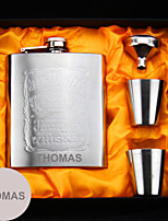 Personalized Stainless Steel  Flasks 7-oz  Flask Set Thanks Gift