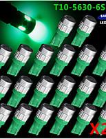 20x T10 192 194 2825 de alta potencia 5630 de chips SMD llevó bombillas interiores rojos puros