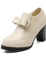 Women's Shoes Chunky Heel Heels / Round Toe Heels Dress Black / Red / Beige