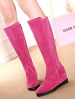 Women's Shoes Fleece Wedge Heel Fashion Boots Boots Dress / Casual Black / Brown / Yellow / Red