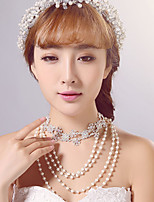 Korean Anniversary / Wedding / Engagement / Birthday / Gift / Party / Special Occasion Necklace with Imitation Pearl