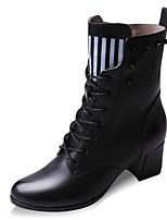 Women's Shoes Leatherette Chunky Heel Fashion Boots Boots Office & Career / Party & Evening / Dress