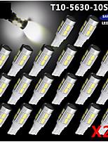 20x t10 bianco 158 194 168 w5w 5730 10 SMD ha condotto la lampada della lampadina super auto 12v