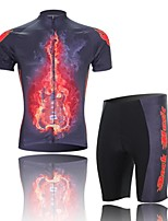 Men's Short Sleeve Cycling Clothing Sets/Suits ShortsBreathable / Ultraviolet Resistant /Moisture Red+Black