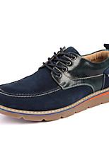 Men's Boots Comfort Suede Spring Fall Casual Outdoor Office & Career Comfort Split Joint Flat Heel Dark Brown Blue Gray Flat