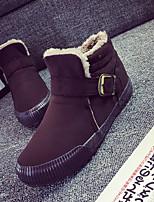 Men's Shoes Canvas / Fabric Flat Heel Platform / Snow Fashion Boots / Comfort / Round Closed Toe BootsOutdoor / Office