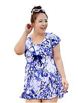 Plus Size 3XL - 6XL 2015 Summer Dress Women Large Size Swimwear One Pieces Brand Women Dress Swimsuit vestidos femininos