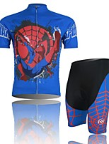 Men's Short Sleeve Cycling Clothing Sets/Suits ShortsBreathable / Ultraviolet Resistant /Moisture Blue+Red