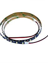 Jiawen 100 centimetri 4w 60x3528smd bianco caldo chiaro / bianco lampada principale della striscia per l'automobile e l'armadietto (12V