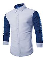 Men's Long Sleeve Shirt , Cotton / Polyester / Nylon Casual / Work Print LENCH18
