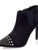 Women's Shoes Fleece / Cashmere Stiletto Heel Heels / Bootie Heels / Boots Wedding / Party & Evening / Dress Black