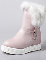 Women's Shoes Leatherette Wedge  / Round Toe Boots Outdoor / Office & Career / Casual Pink / White