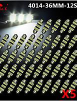 50x nuevo blanco 36mm 12 4014 SMD mapa adorno de la bóveda interior llevó la luz de la lámpara DE3175 3022 12v