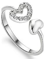 Sølv Ringer Dame Ikke-stein Sølv