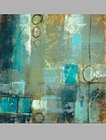 Blue Color Square Size Handmade Oil Painting
